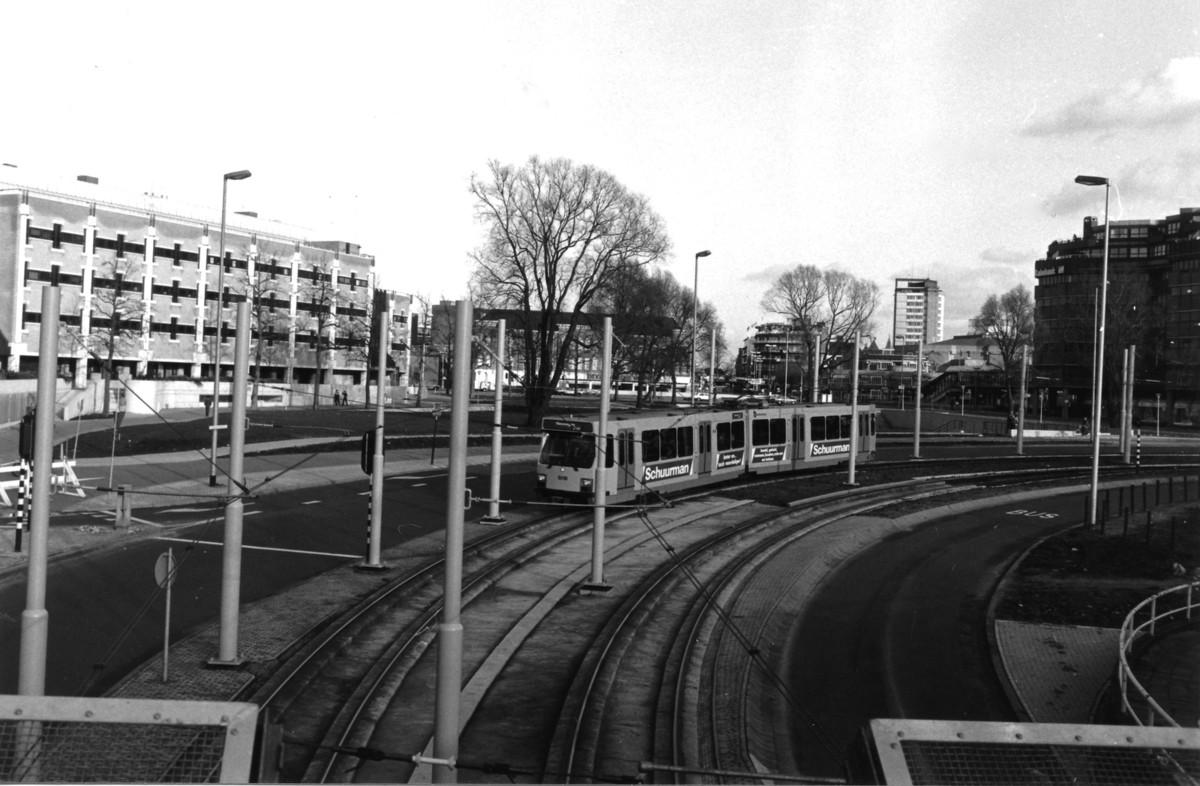 De Utrechtse sneltram in 1984 op Smakkelaarsveld. Foto: Nieuws030-Gerrit Jansen