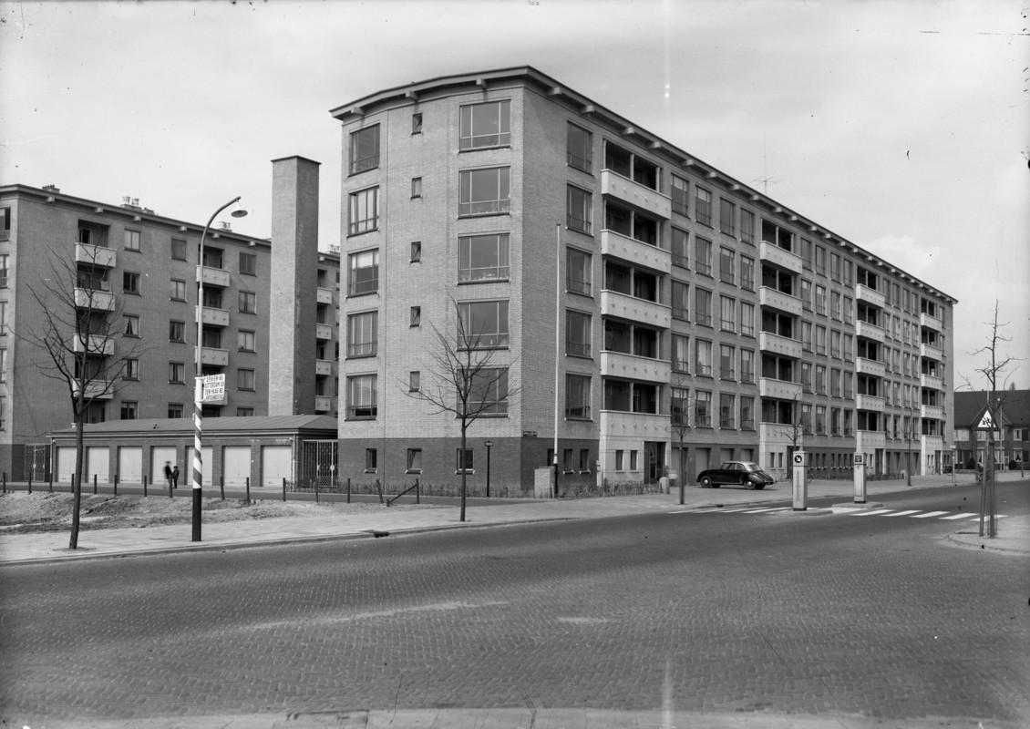 Flatwoningen aan de Adriaen van Ostadelaan circa 1960. Foto: Het Utrechts Archief