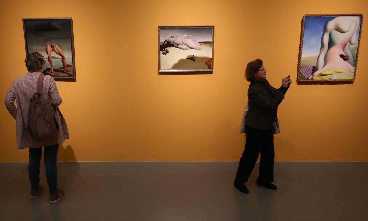 Schilderijen van Moesman in het Centraal Museum. Foto: Ton van den Berg