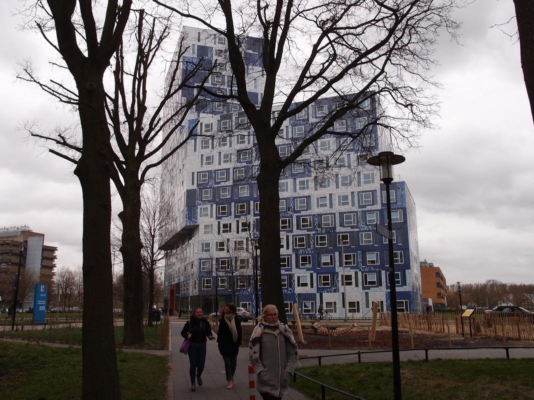 Studentenflat 'Johanna' op het Utrecht Science Park (Uithof). Foto: Louis Engelman