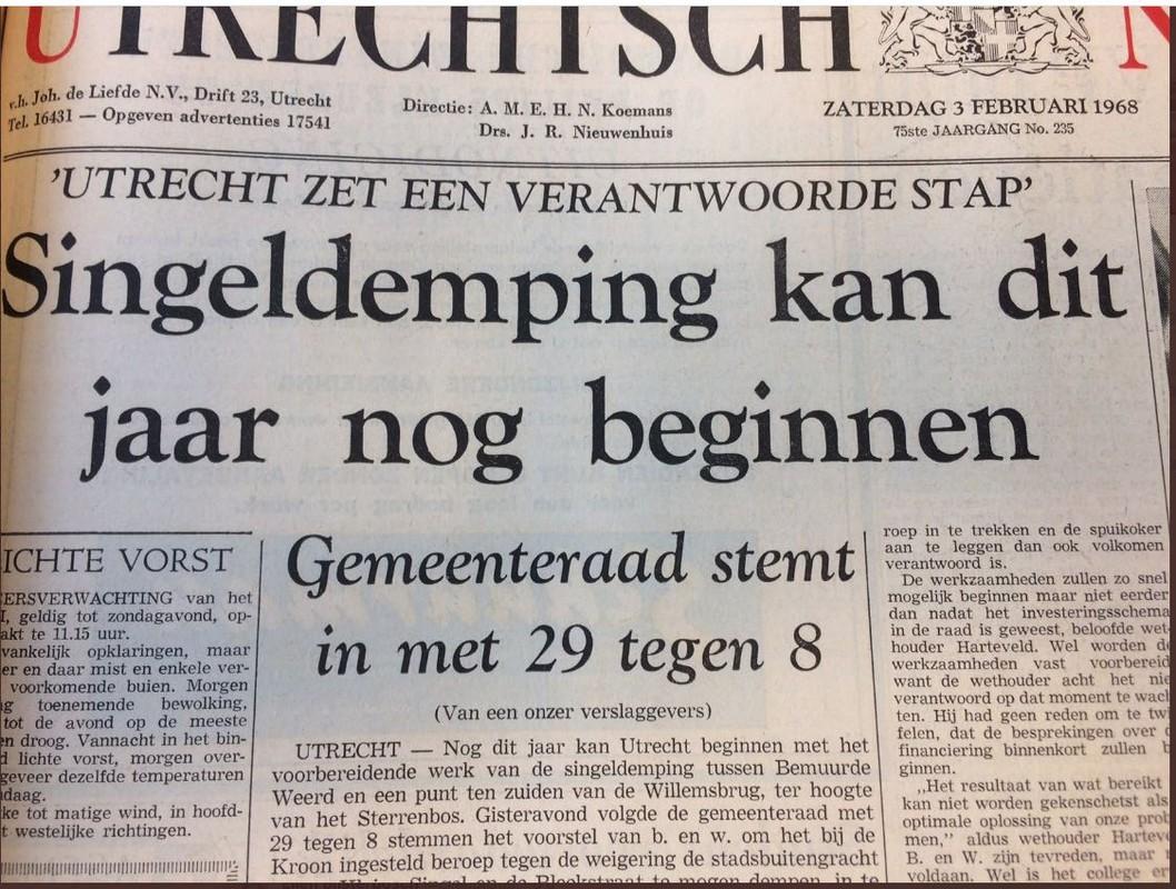 Het Utrechtsch Nieuwsblad op zaterdag 3 februari 1968.