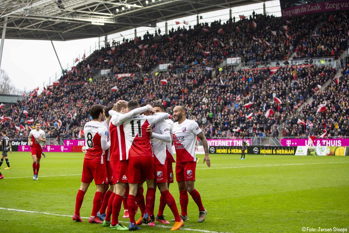 De laatste competitiewedstrijd van FC Utrecht is op 8 maart tegen Sparta geweest. Foto: Jeroen Stoops