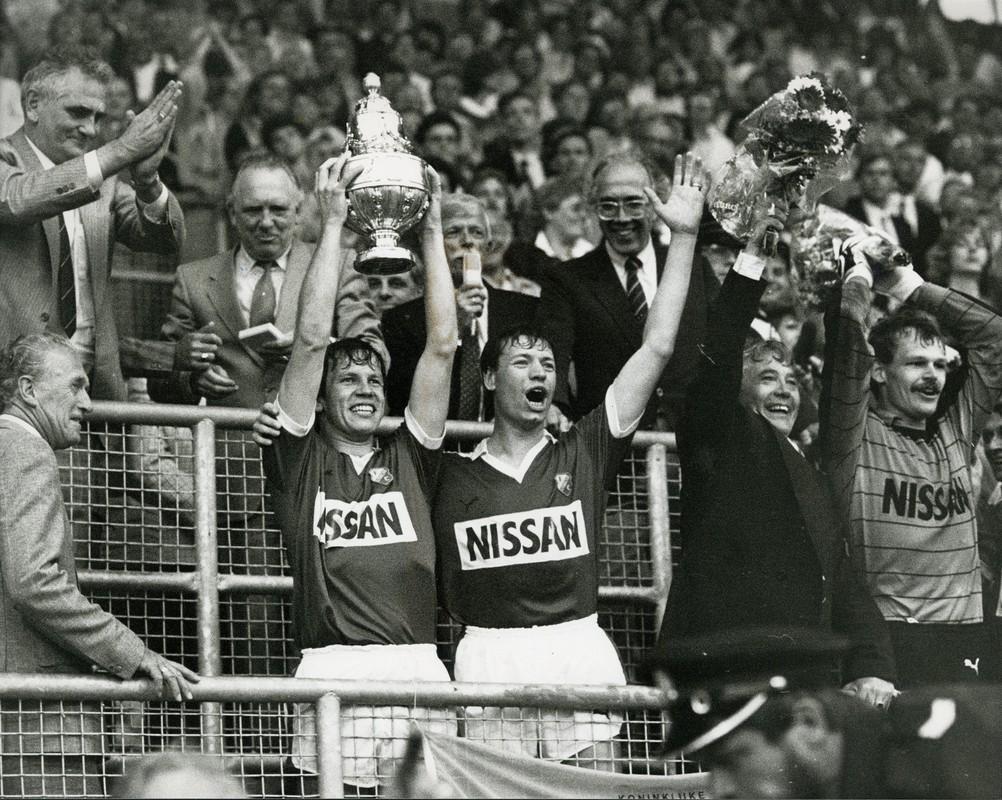 De beker is in 1985 voor FC Utrecht. Foto: archief FC Utrecht