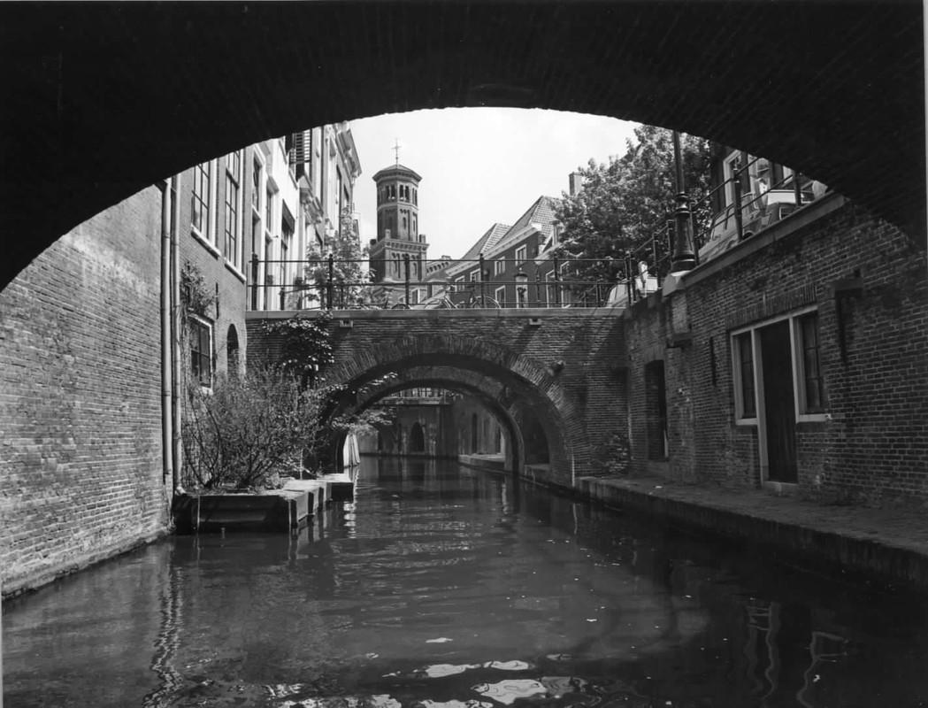 Kelders aan de Kromme-Nieuwegracht in 1976. Foto: Het Utrechts Archief